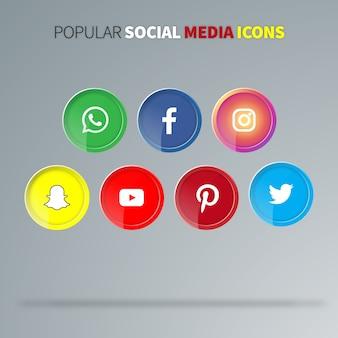 人気のソーシャルメディアアイコン