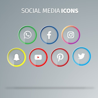 ソーシャルメディアのアイコンのベクトル