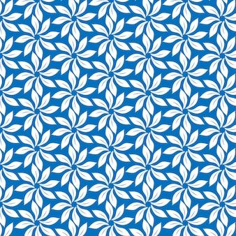 青の背景にパターン