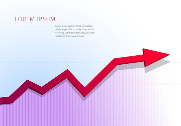 Перемещение стрелок вверх. финансовый или статистический граф шаблон.