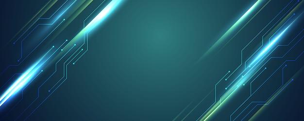 Абстрактный синий фон технологии связи концепция