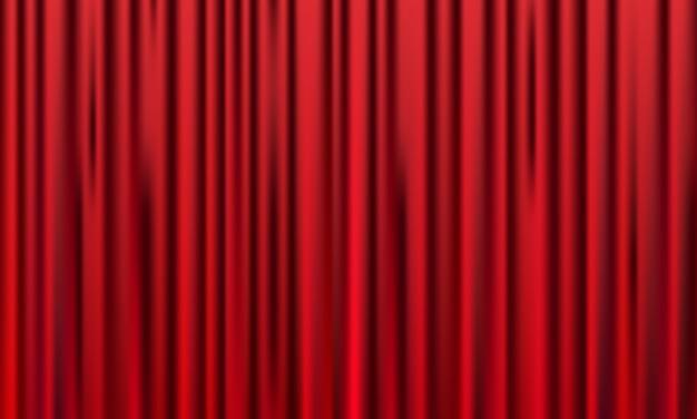 赤いカーテンの背景。グランドオープンイベントのデザイン。