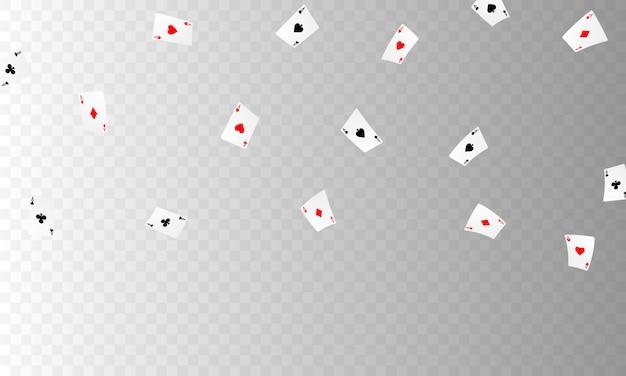 Игральная карта. выигрышные фишки казино в покерных комбинациях, разыгрывающие реалистичные жетоны для азартных игр, наличные для рулетки или покера,