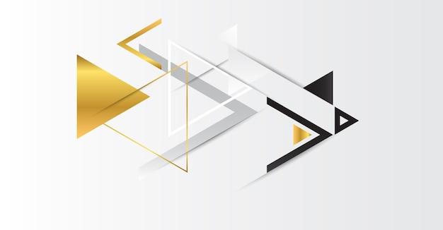 三角形を持つ抽象的な金の幾何学的な背景。