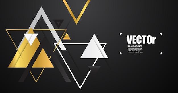 抽象的な金の幾何学的三角形。