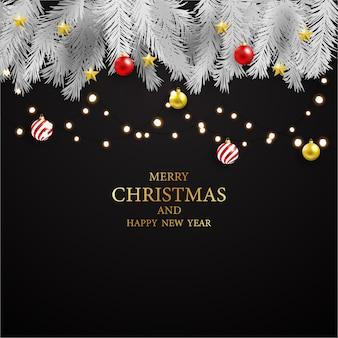 Рождественская вечеринка и счастливый новогодний фон.