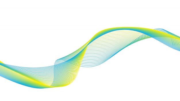 抽象的な緑の白い波と線のパターン。