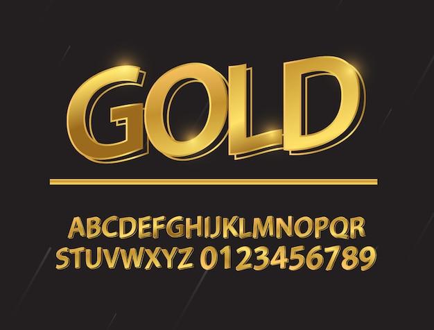 ゴールドフォント図形構成を設定します。