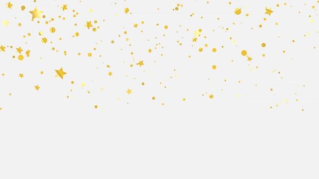 Золотая звезда конфетти