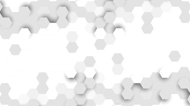 六角形のセルから成る抽象的な背景