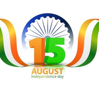 Концепция дизайна день независимости индии графика. празднование приветствия