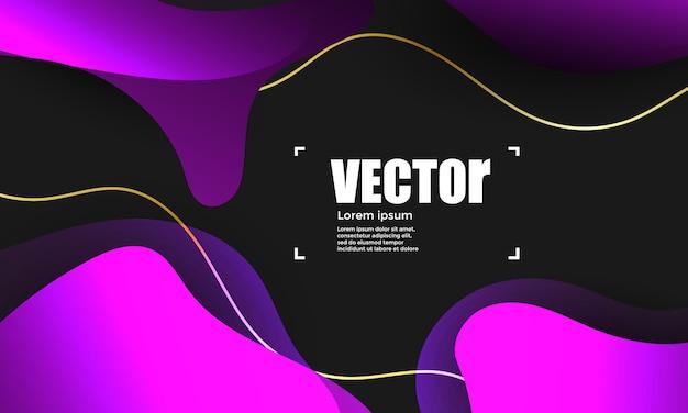 抽象的なグラデーション紫色の背景。カラフルなベクトル図