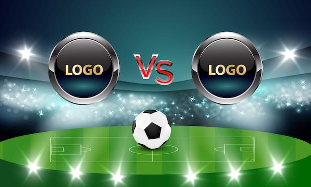 Дизайн концепции футбольного фона