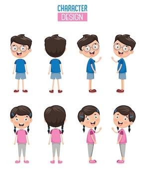 漫画のキャラクターデザインのイラスト
