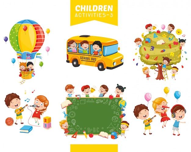 子供たちの活動のベクトル図の設定