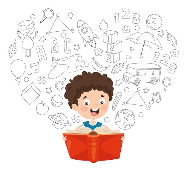 子供の読書のベクトル図