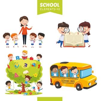 教育要素のベクトル図