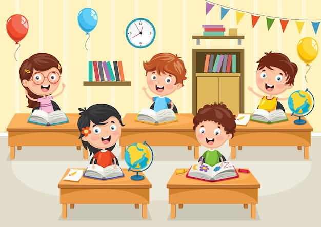 Иллюстрация студентов