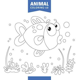 動物の色付けページのベクトル図
