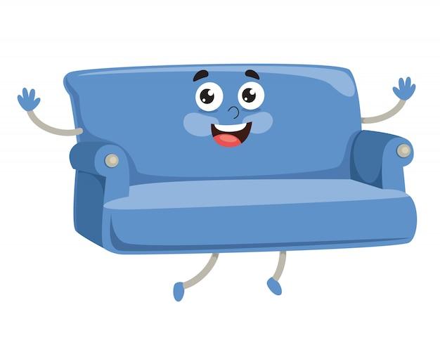 漫画の肘掛け椅子のベクトルイラスト