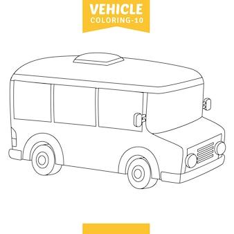Векторная иллюстрация автомобиля окраски страницы