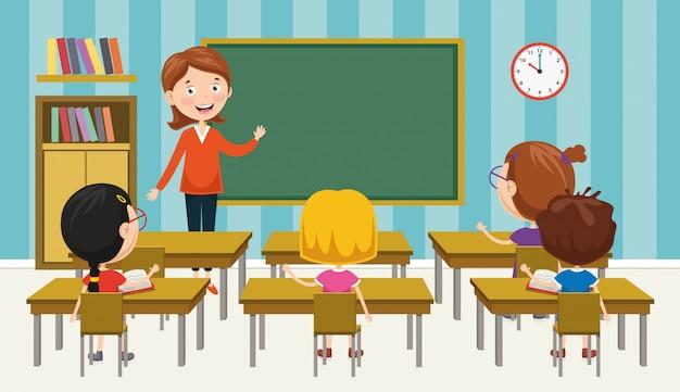 Векторная иллюстрация классе