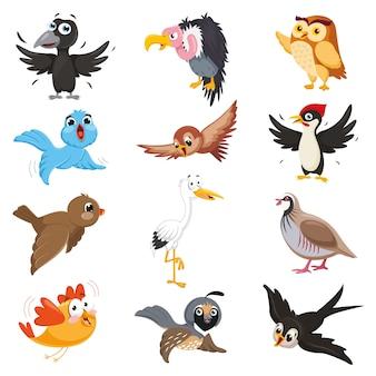 漫画の鳥のベクトルイラスト