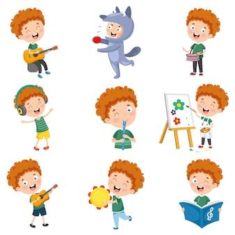 Векторная иллюстрация персонажа из мультфильма