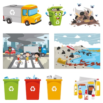 環境要素のベクトルイラスト