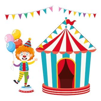 Векторная иллюстрация цирка