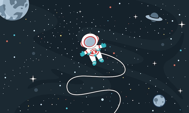 宇宙背景のベクトルイラスト