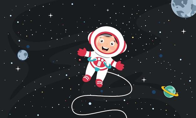 Векторная иллюстрация космического фона