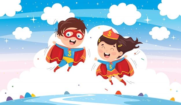 Векторная иллюстрация супергероев
