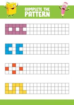 完全なパターン演習のベクトルイラスト