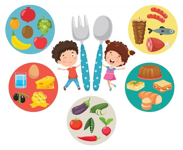 Векторная иллюстрация концепции детского питания