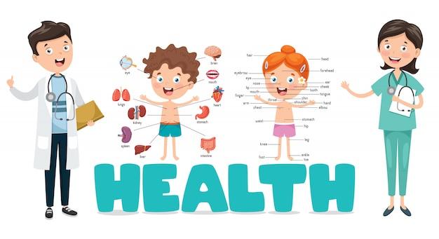 Векторные иллюстрации медицина и здравоохранение