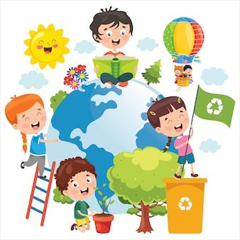 地球を楽しむ子どもたち