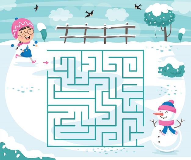 Иллюстрация лабиринт для детей