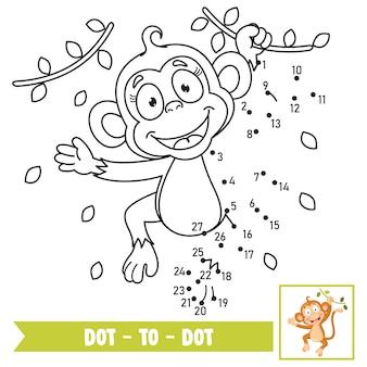 子供の教育のためのドットゲームイラストをドットします。