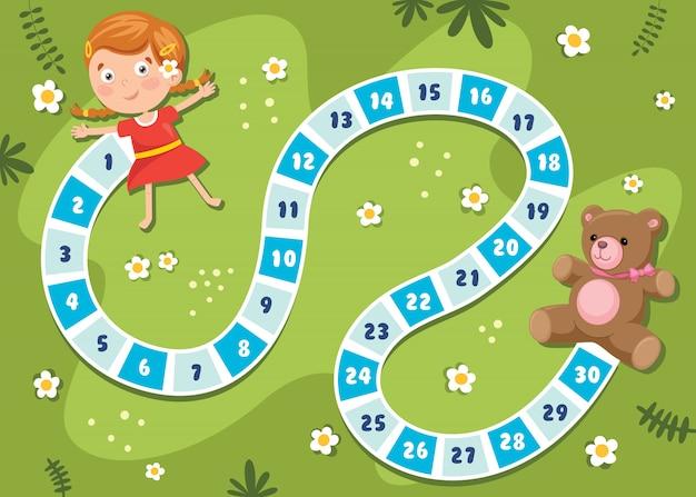 子供教育のための番号ボードゲームイラスト