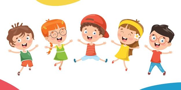 一緒に楽しんでいる小さな子供たち