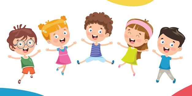 Маленькие дети веселятся вместе