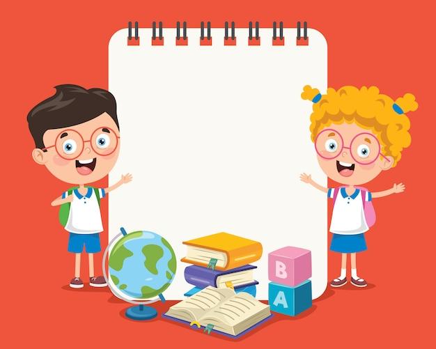 子供と紙のテンプレート