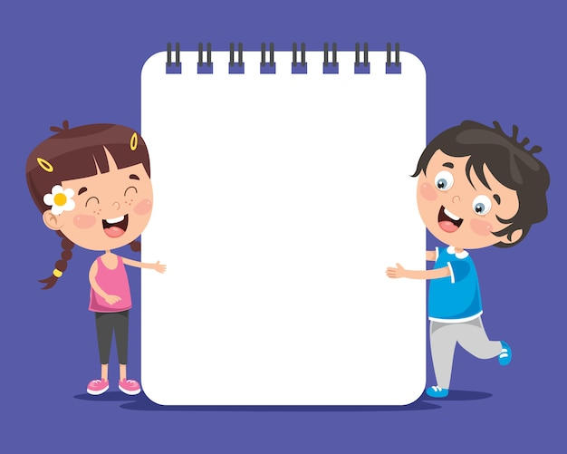 Бумажный шаблон с детьми