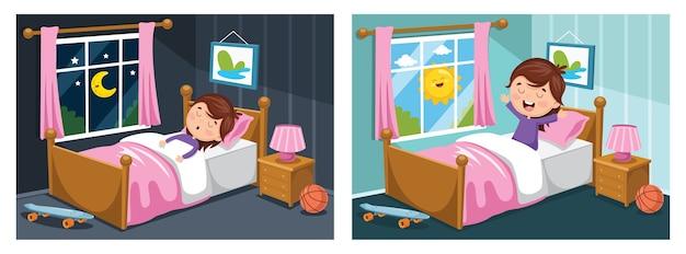 Иллюстрация спящего ребенка