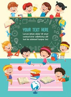 Маленькие дети учатся и играют в дошкольных классах