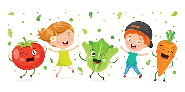 健康的な食事のための新鮮な野菜