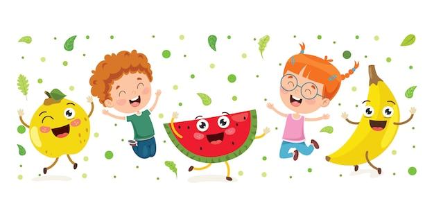 健康的な食事のための新鮮な果物