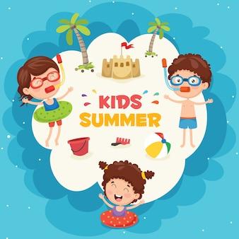 Иллюстрации летних детей