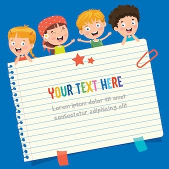 子供の教育のための白紙のメモ用紙
